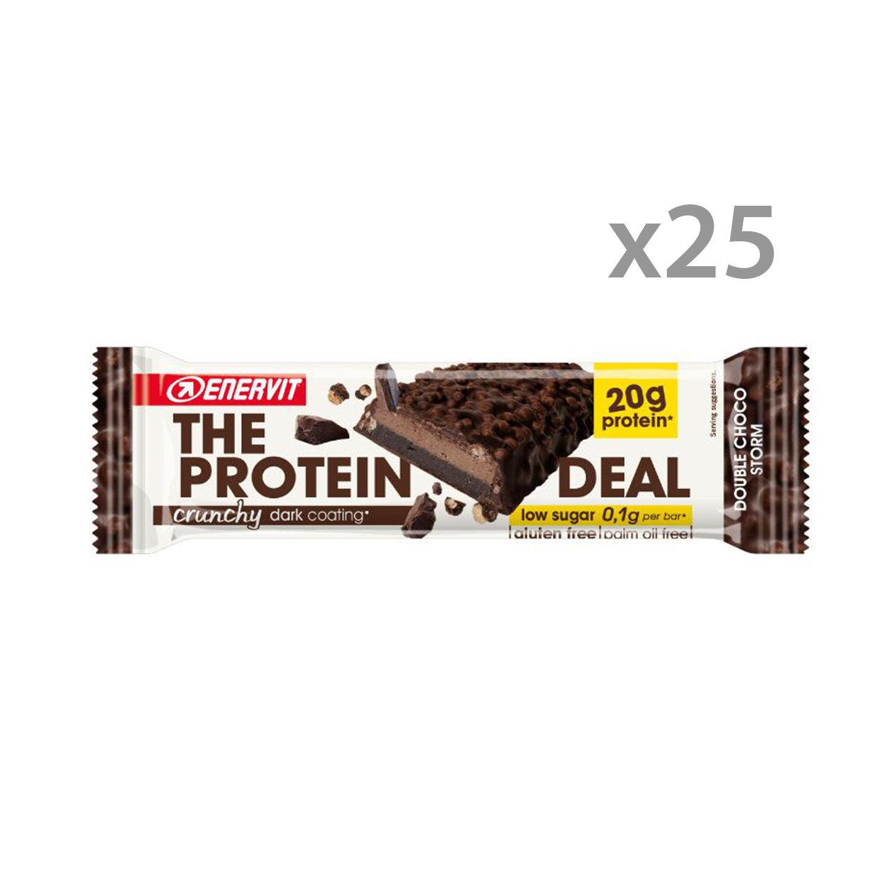 Box da 25 barrette - Enervit The Protein Deal Bar Fondente Crunchy