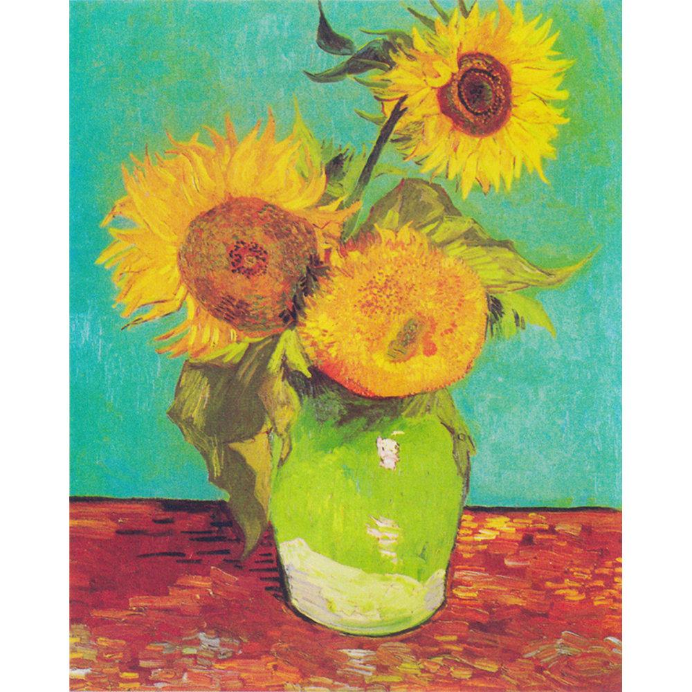 Matrimonio Girasoli Van Gogh : Vaso con tre girasoli stampa su tela van gogh
