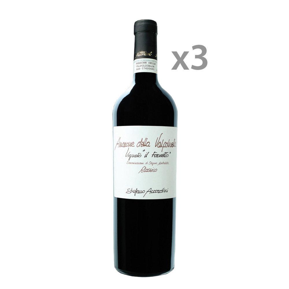 """Image of 3 bottiglie """"Il Fornetto"""" Amarone della Valpolicella 2015"""