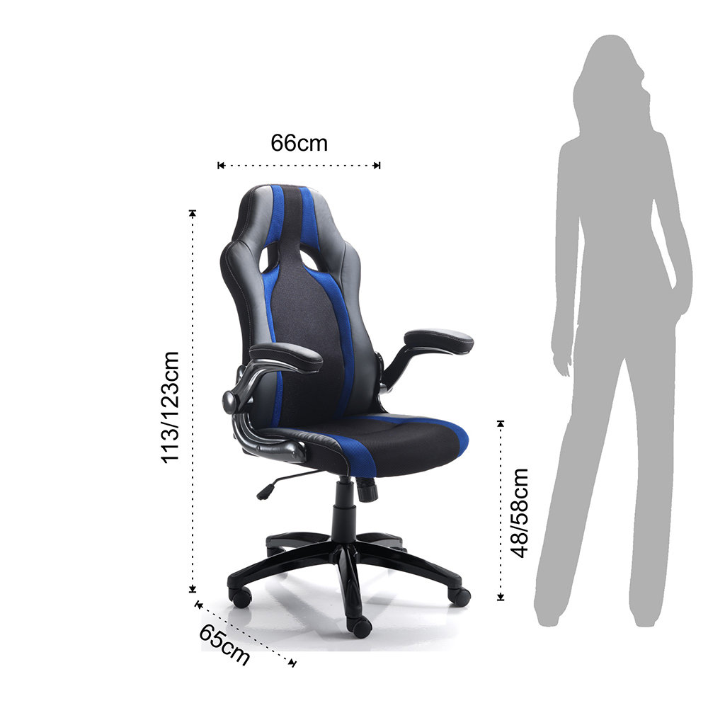 Office design poltrona da ufficio team nero blu for Ufficio blu