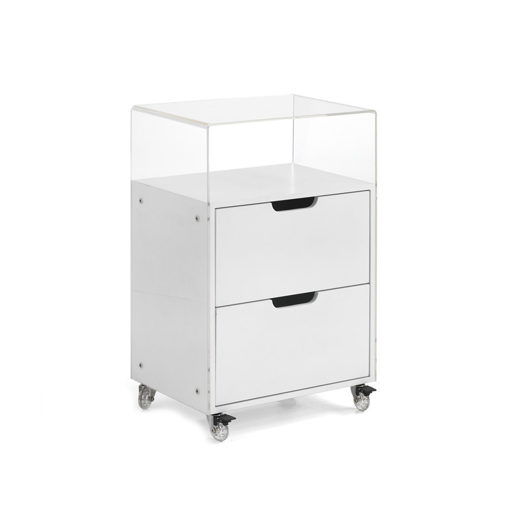 Cassettiere Con Ruote.Cassettiera Con Ruote Kristal Bianco Office Design Acquista Su Ventis