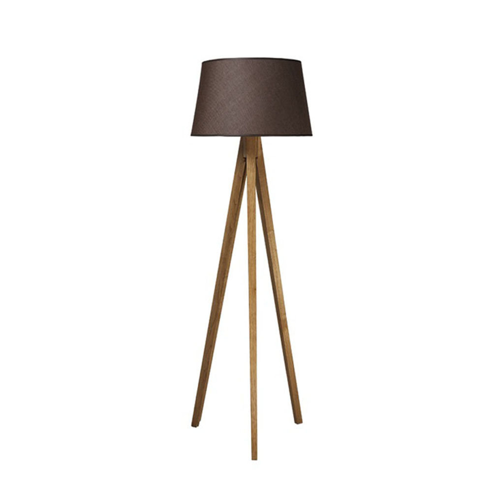 Lampada da terra treppiede in legno, marrone - Modern Lights - Acquista su  Ventis.
