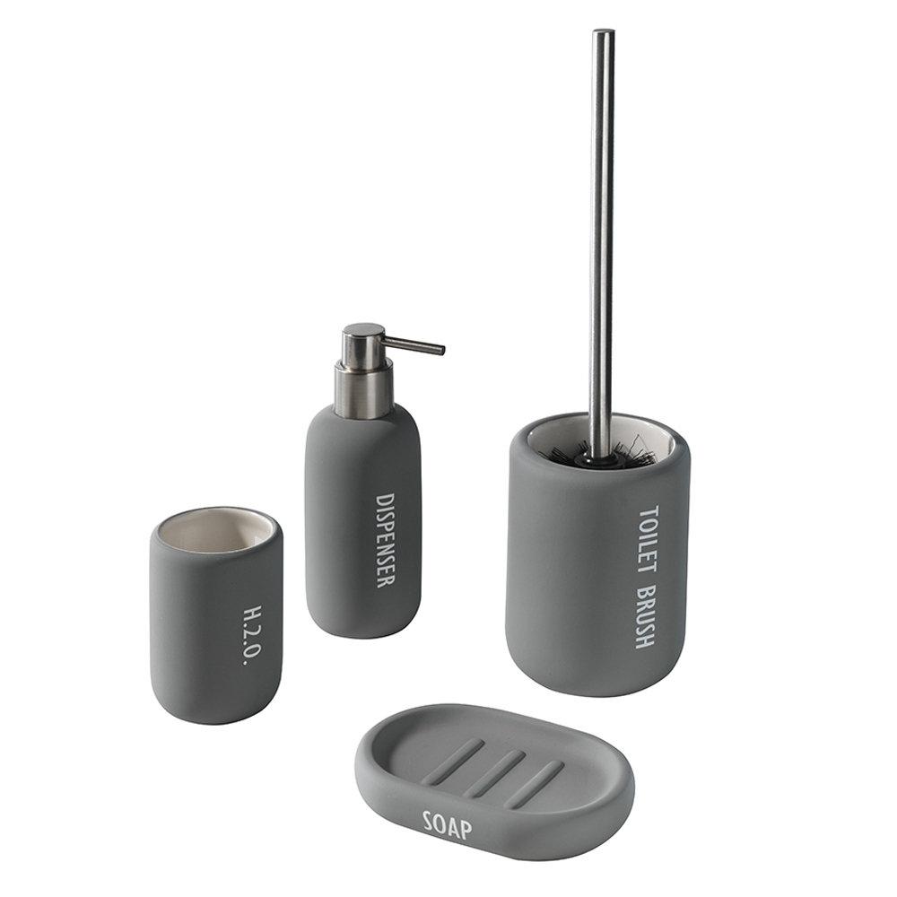 Set accessori bagno in ceramica, grigio - Bagno moderno: Idee ...