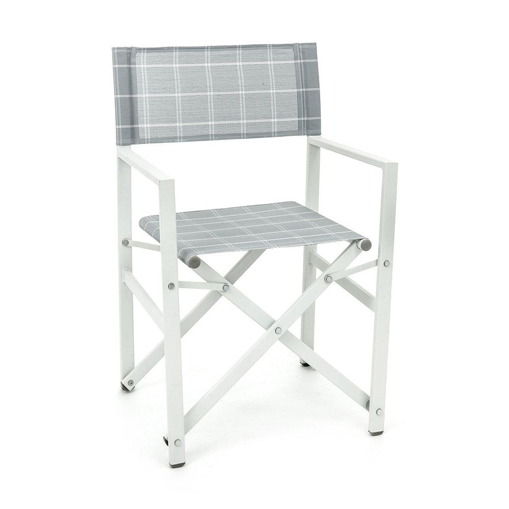 Sedia Regista Pieghevole Alluminio.Sedia Regista Pieghevole Da Esterno Positano In Alluminio Bianco Garden Selection Acquista Su Ventis