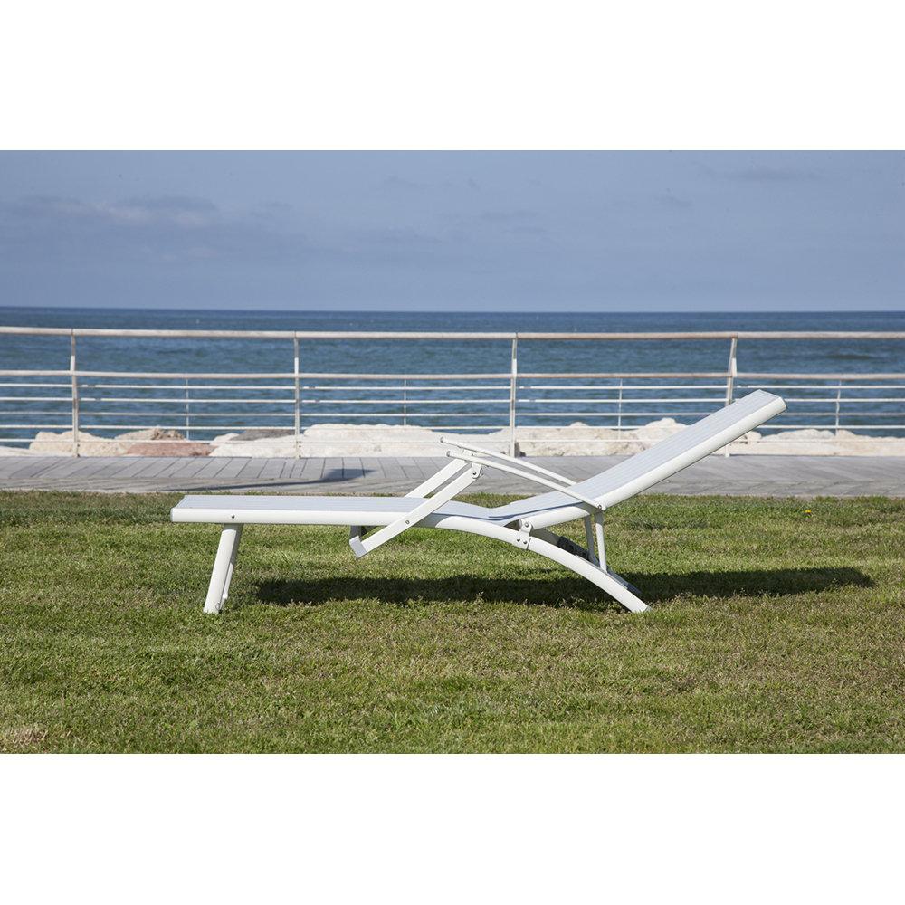 Lettino da mare piscina positano in alluminio bianco garden selection acquista su ventis - Lettino piscina alluminio ...