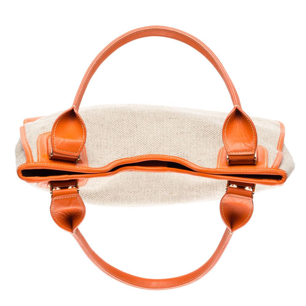 Borse A Spalla Gherardini : Borsa a spalla con tessuto lavorato arancione