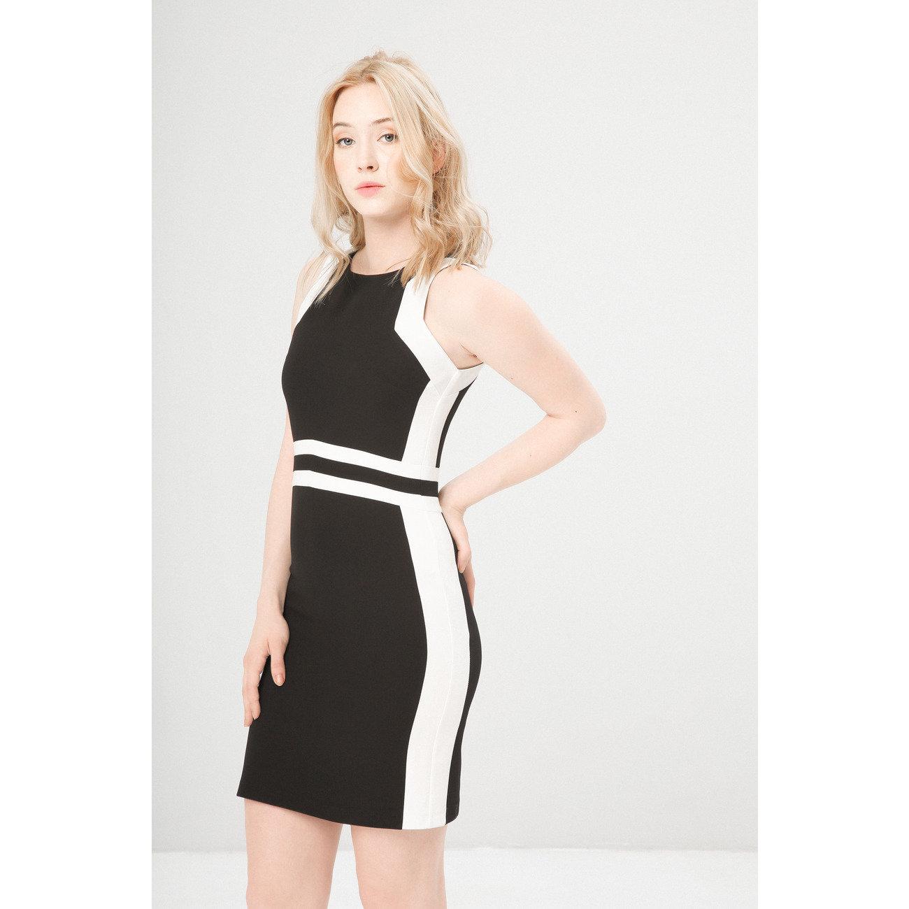 buy popular 9199d b5dac Vestito a tubino BENVENUTA nero e bianco