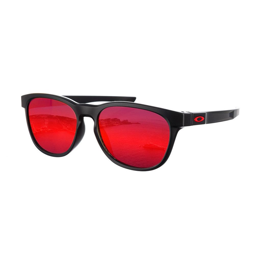 Occhiali da sole Oakley con montatura ovale e lenti a specchio, nero ... 2cb3ff4a3b