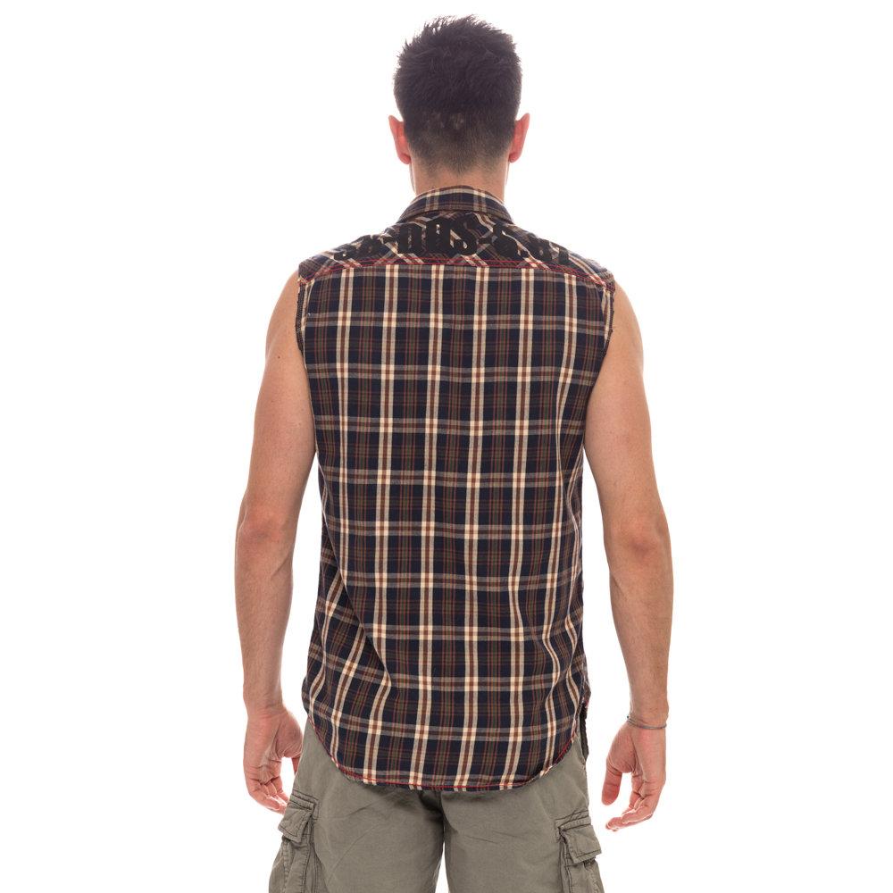 sale retailer b991d 2f631 Camicia da uomo smanicata a quadrettini - Scorpion Bay - Acquista su Ventis.