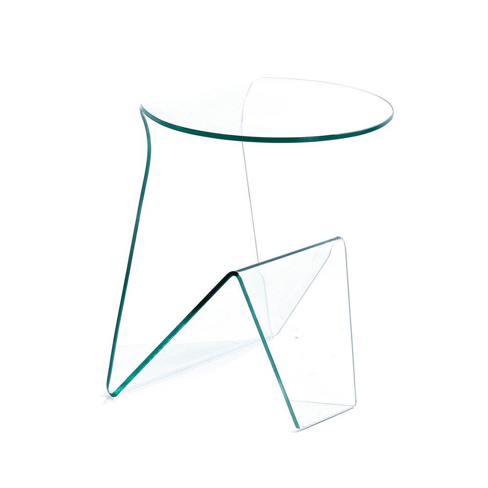 Tavolino MARK in vetro curvato - Le trasparenze - Acquista su Ventis.