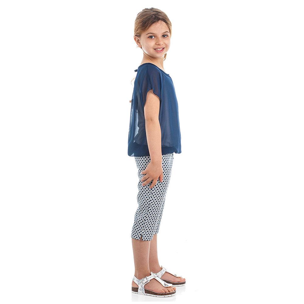 7d761118ee60b8 Completo da bambina top e pantaloni a pinocchietto, blu - BIMBUS - Acquista  su Ventis.