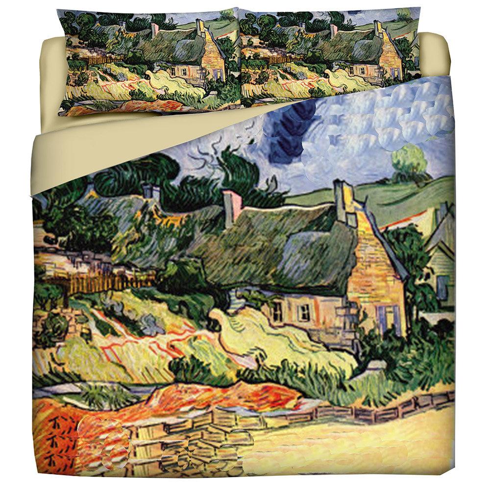 Copripiumino Van Gogh.Parure Copripiumino Van Gogh Casolare A Auvers 2 Piazze Letti