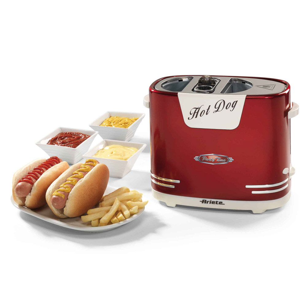 Hot dog maker party time ariete elettrodomestici for Cucinare hot dog