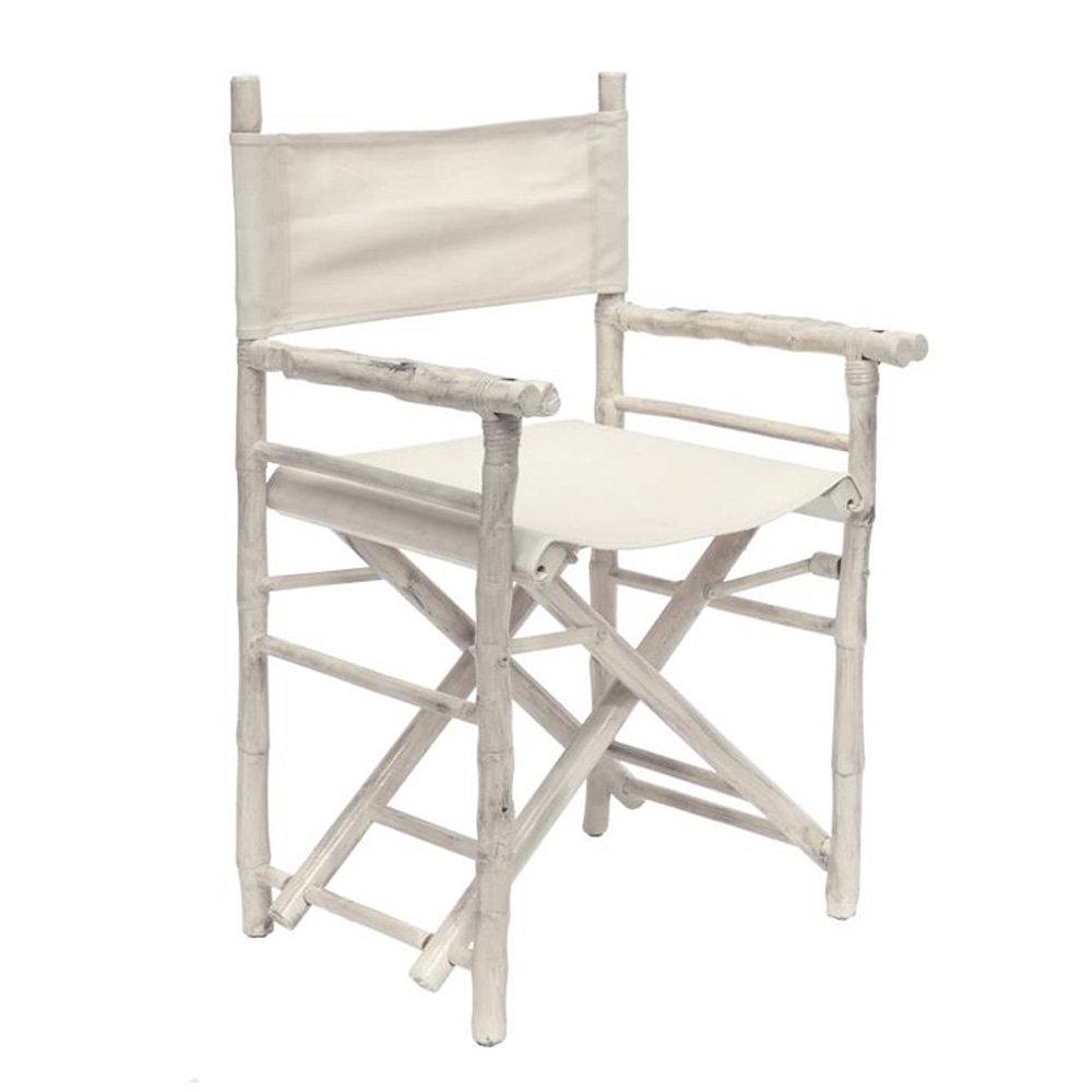 Sedie Da Regista In Legno.Sedia Da Regista In Legno E Canvas Bianco Trendy Costal New