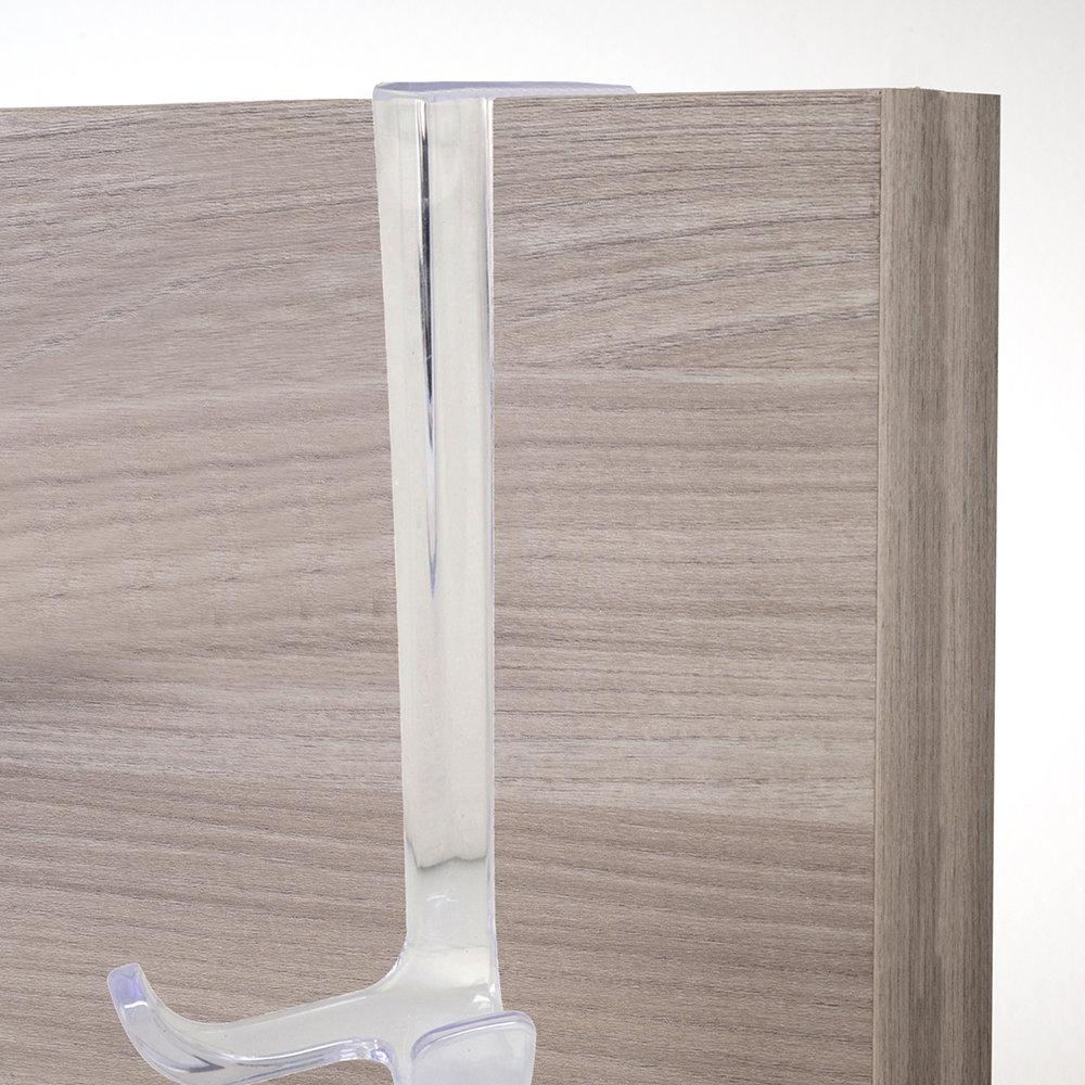 Gancio appendiabiti per porta furbo in plastica trasparente un bagno da sogno acquista su - Appendiabiti per bagno ...