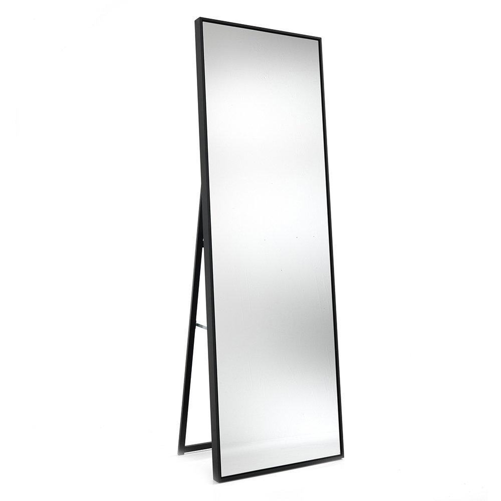 Specchio da terra parete lely 180 in alluminio anodizzato nero opaco un bagno da sogno - Specchio ovale da terra ...