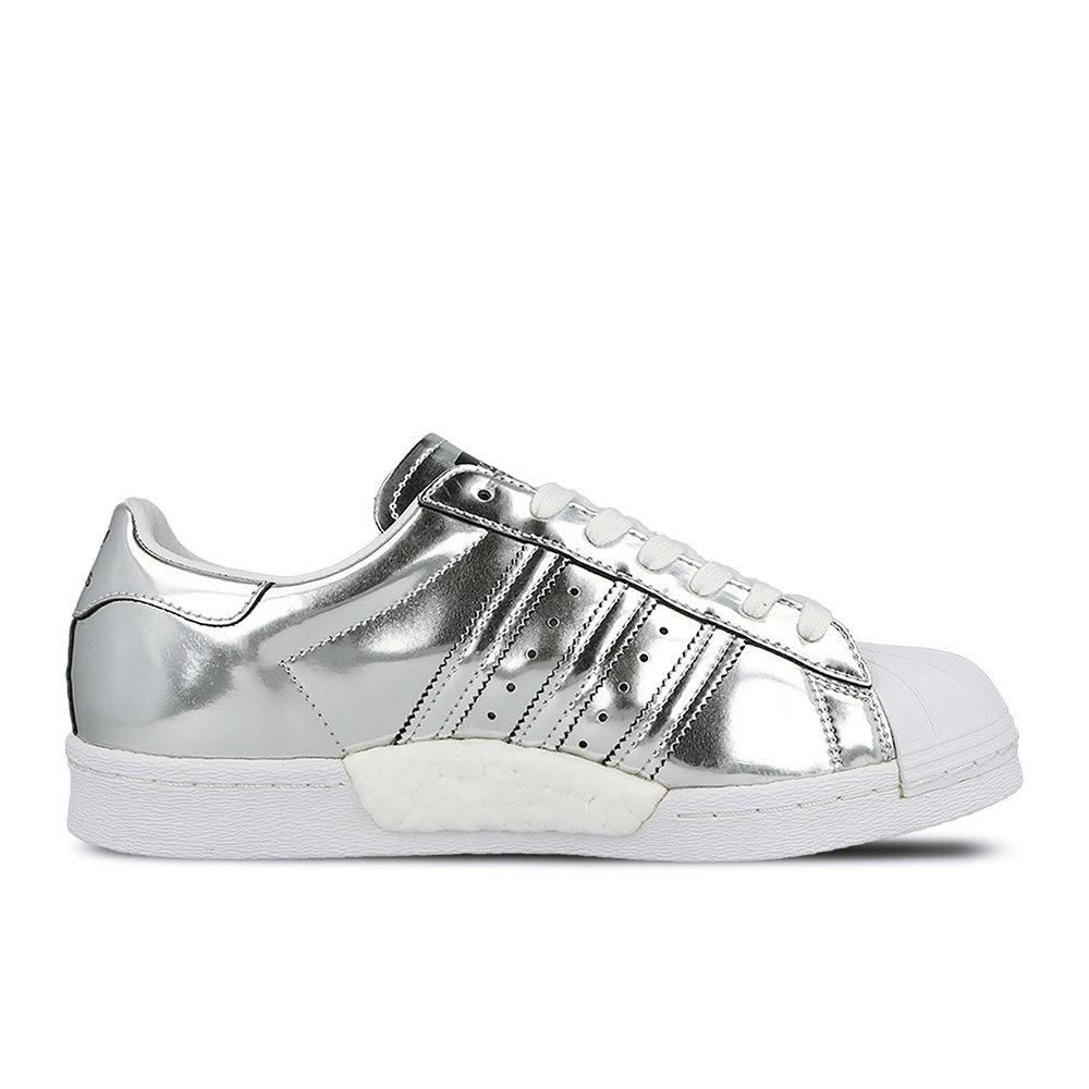 Sneakers Adidas Superstar effetto cromato da donna, silver