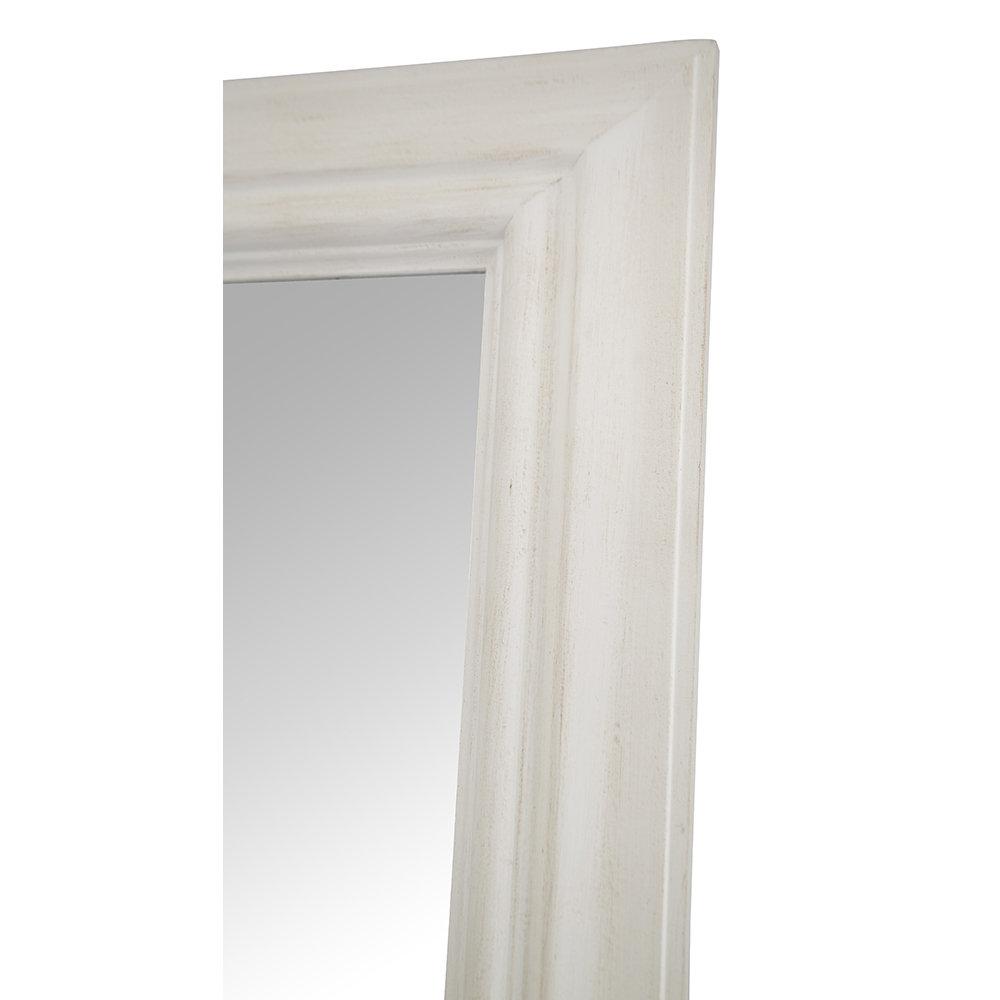 Specchio da muro globe bianco accessori shabby chic for Specchio da terra kasanova