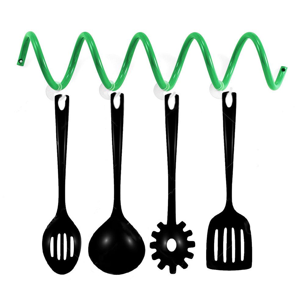 Appendiabiti da muro/porta utensili da cucina, verde - Creative ...