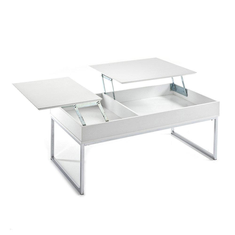 Tavolini Da Salotto Che Si Alzano.Tavolino Da Salotto Celinda Laccato Bianco Opaco Total White