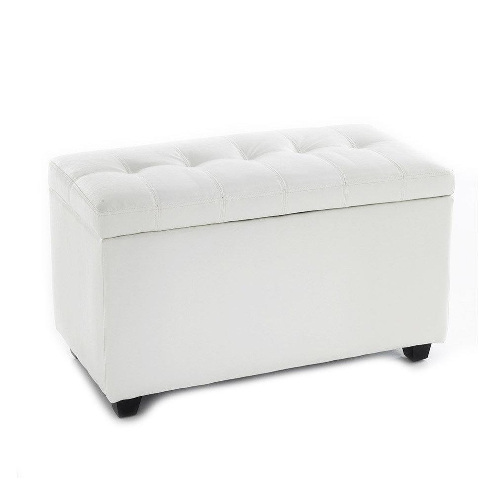 Cassapanca Bianca Moderna.Cassapanca Nice White 80 In Ecopelle Bianca Total White