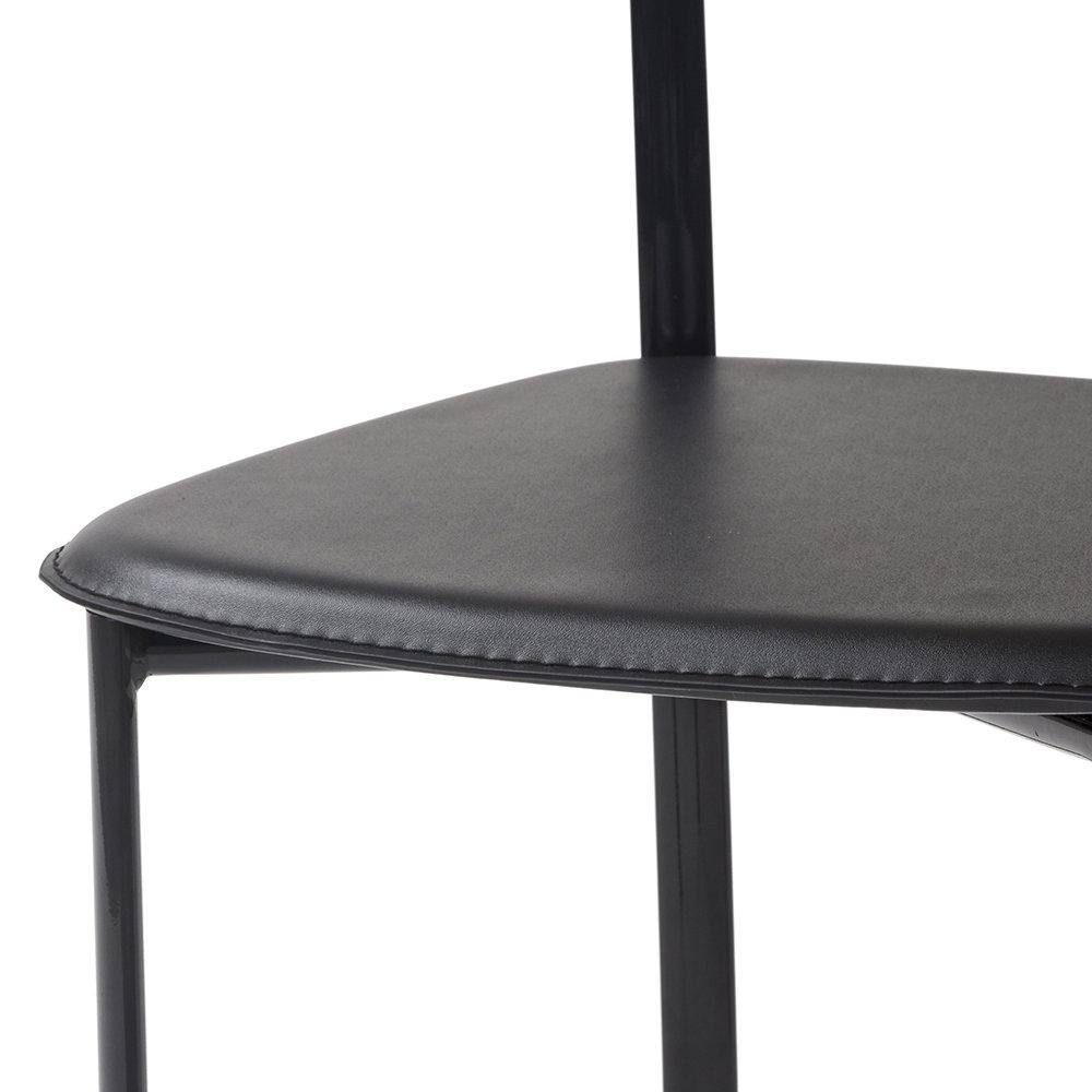 Set 4 sedie BIBI con seduta in similcuoio, nero Tuoni Living Acquista su Ventis.