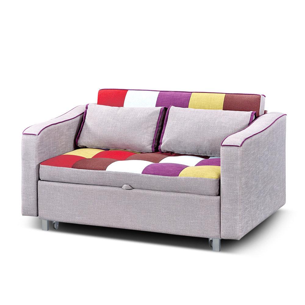 Divano letto innovation a quadri multicolor tuoni living for Divano letto l