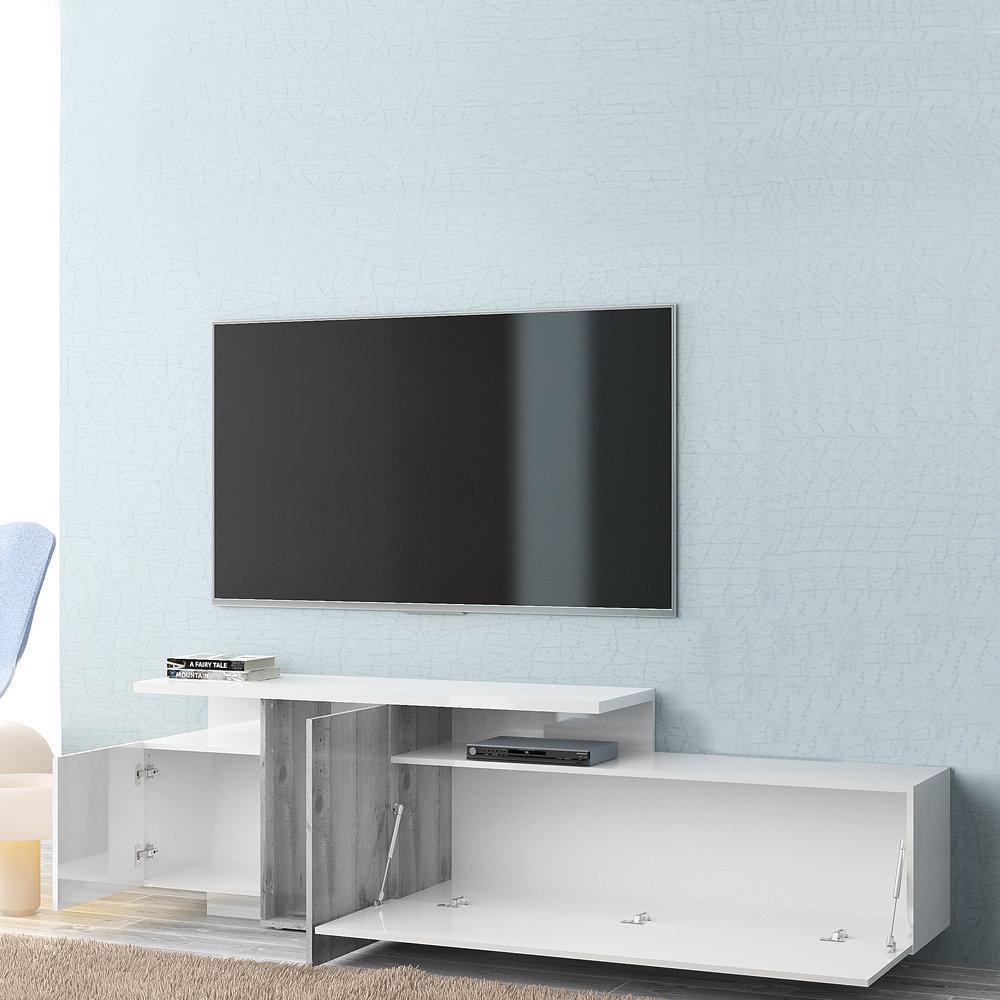 TUONI LIVING - Madia Porta Tv SIRIO in legno laccato lucido ...