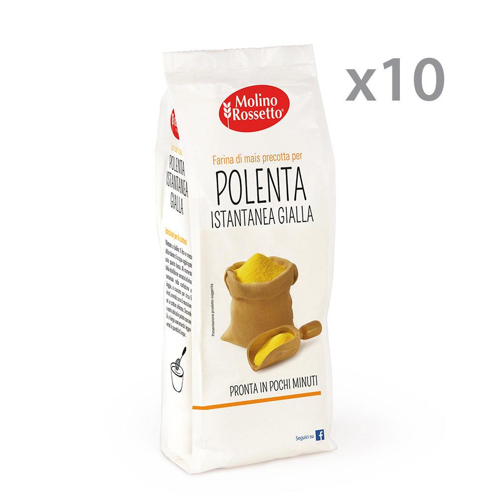 10 confezioni - Polenta Istantanea gialla 400 gr