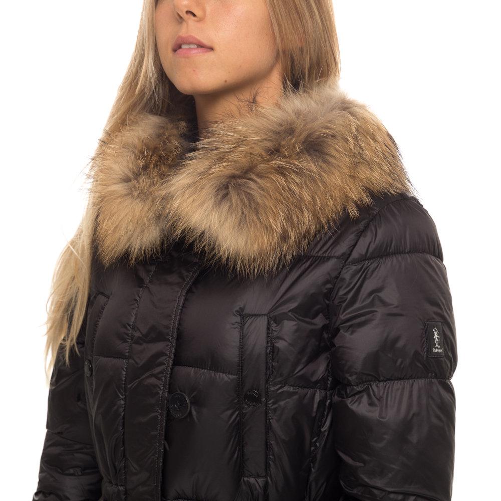 super popular 60b98 9eb9d Giubbotto Refrigue imbottito lungo con pelo da donna, nero - Refrigue -  Acquista su Ventis.