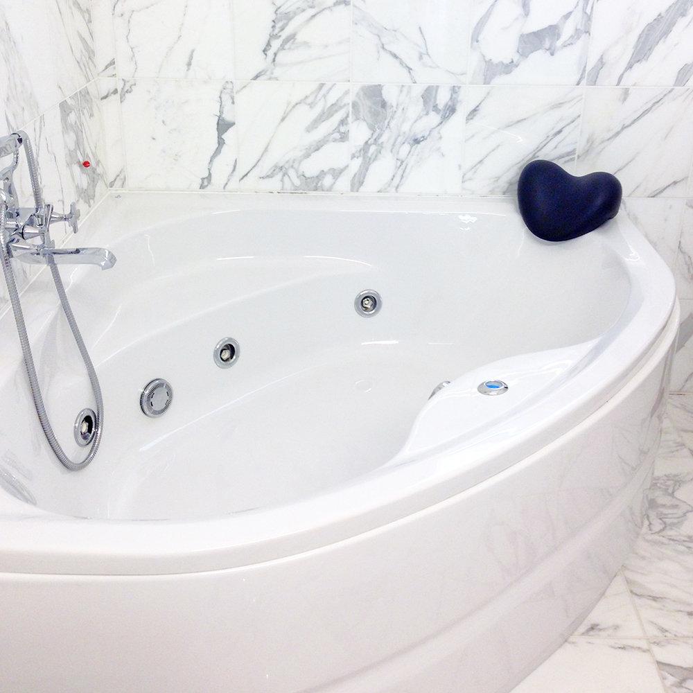Cuscino poggiatesta relax per vasca da bagno nero - Poggiatesta per vasca da bagno ...