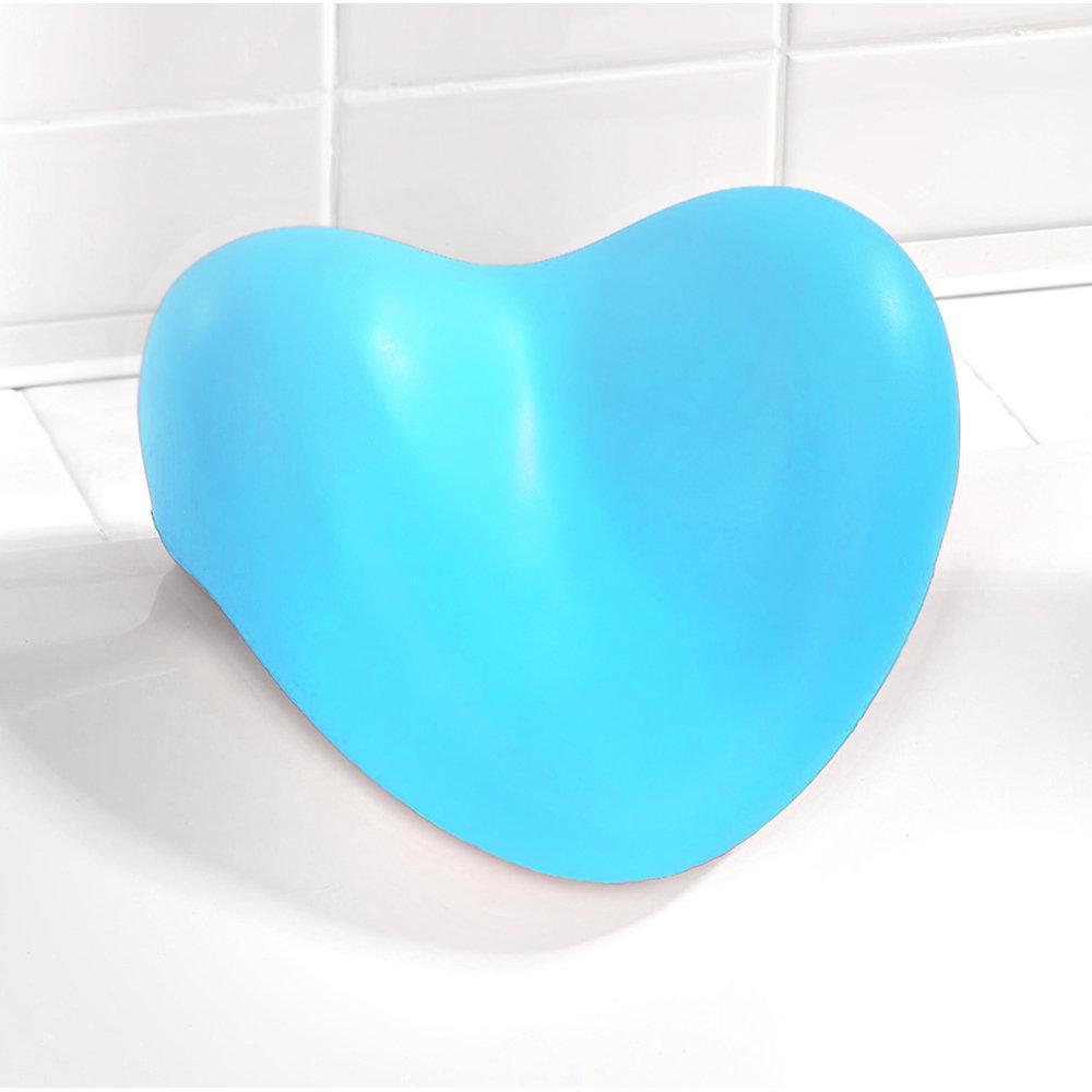 Cuscino poggiatesta relax per vasca da bagno azzurro - Poggiatesta per vasca da bagno ...