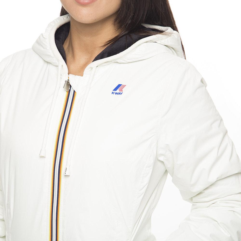 newest d6fd6 a0b28 Piumino donna K-Way con pelo, bianco - Boutique Capispalla - Acquista su  Ventis.