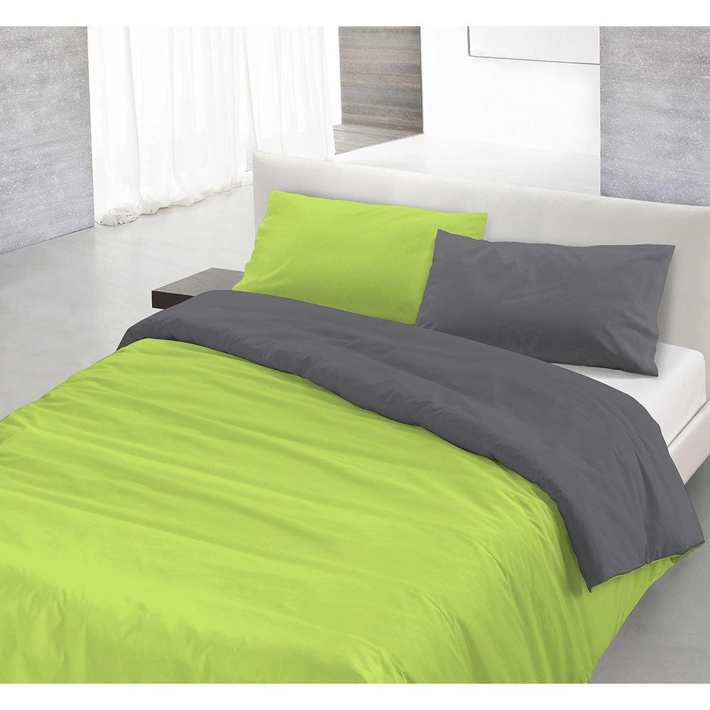 online store 70657 9ac94 Parure copri piumino NATURAL COLOR, verde acido/fumo - SOGNI A COLORI -  Acquista su Ventis.