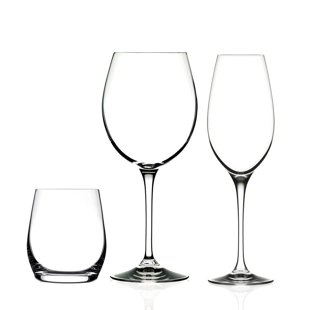 Calici Vino E Acqua set 12 pezzi calice vino rosso + bicchiere vino e acqua + calice vino  champagne