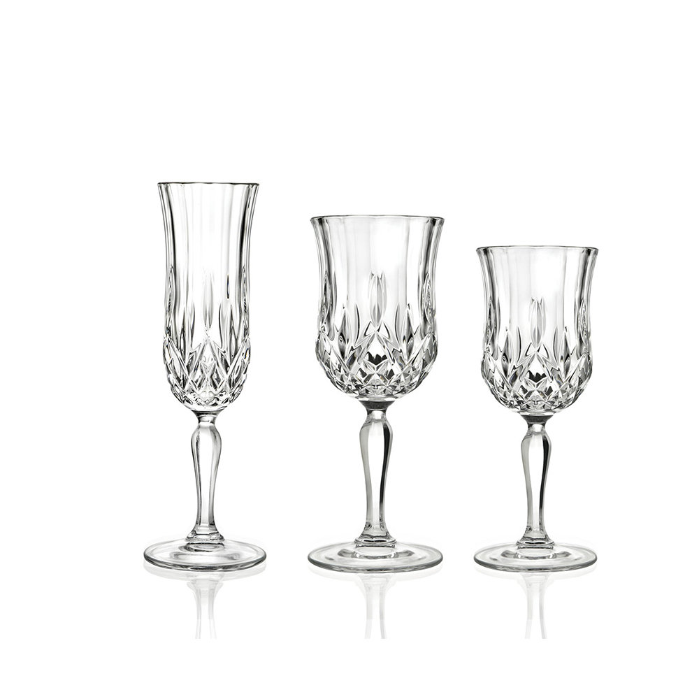 Calici Vino E Acqua set di 6 calici acqua + set di 6 calici vino + set di 6 calici champagne -  rcr tavola - acquista su ventis.