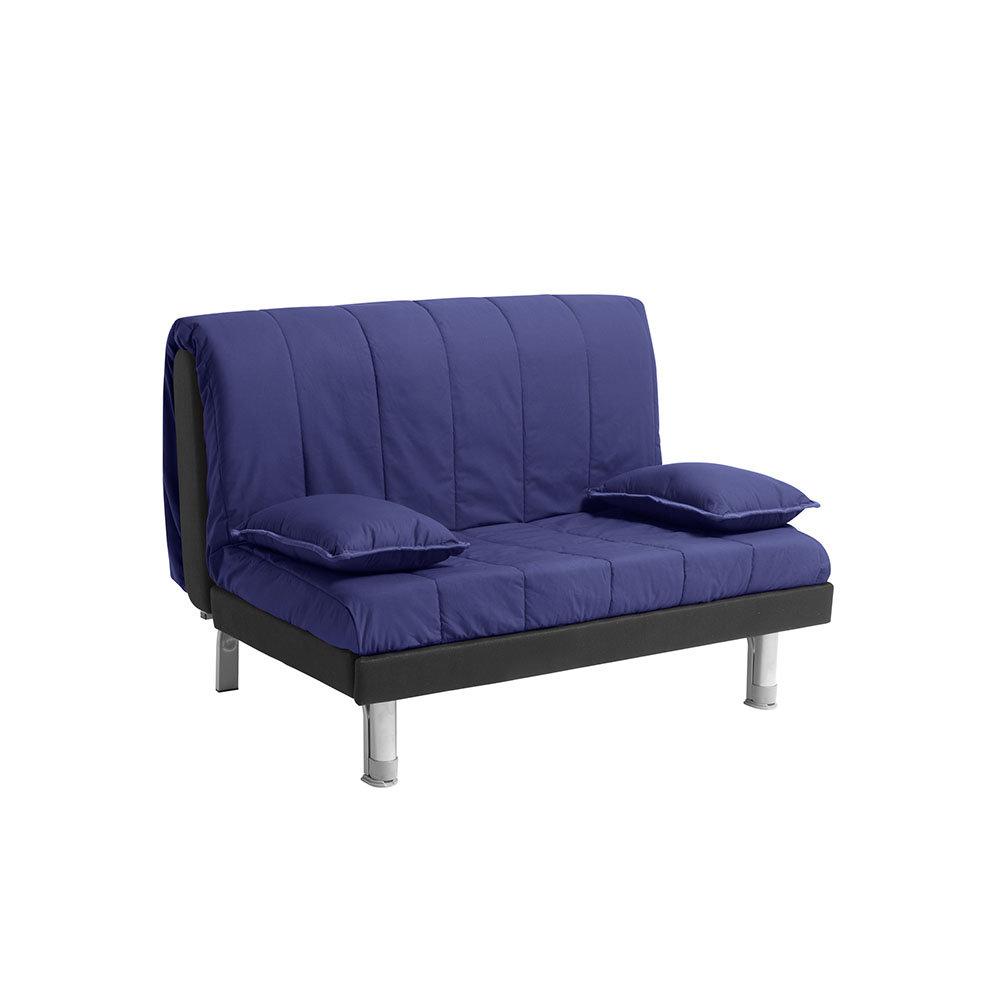 Divano letto plutone 120 in cotone blu facondini divani - Divano letto blu ...
