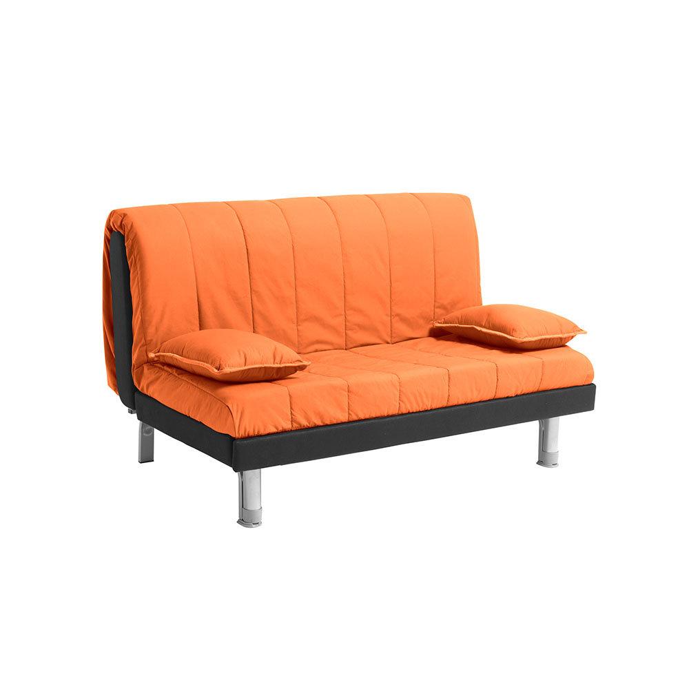 FACONDINI DIVANI - Divano letto Plutone 140 in cotone, arancio