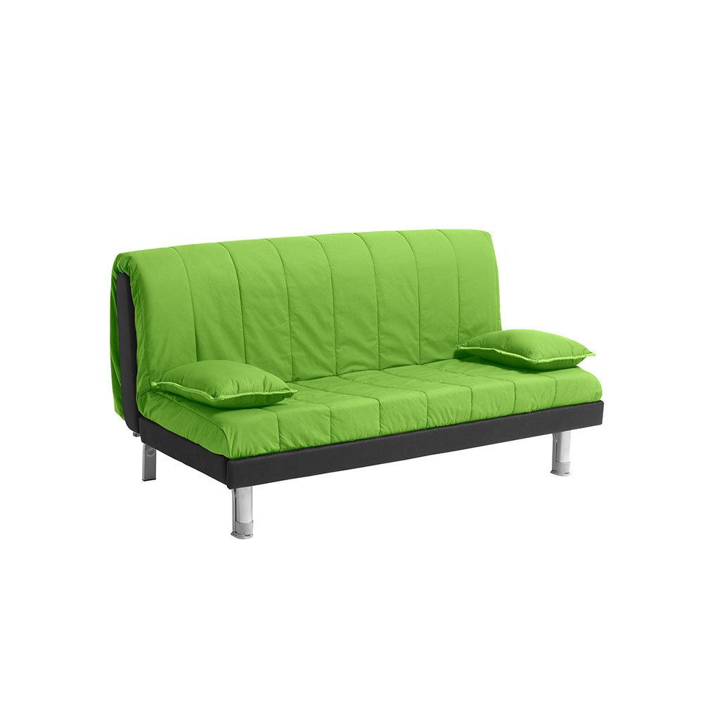 Divano letto Plutone 160 in cotone, verde - Facondini divani ...