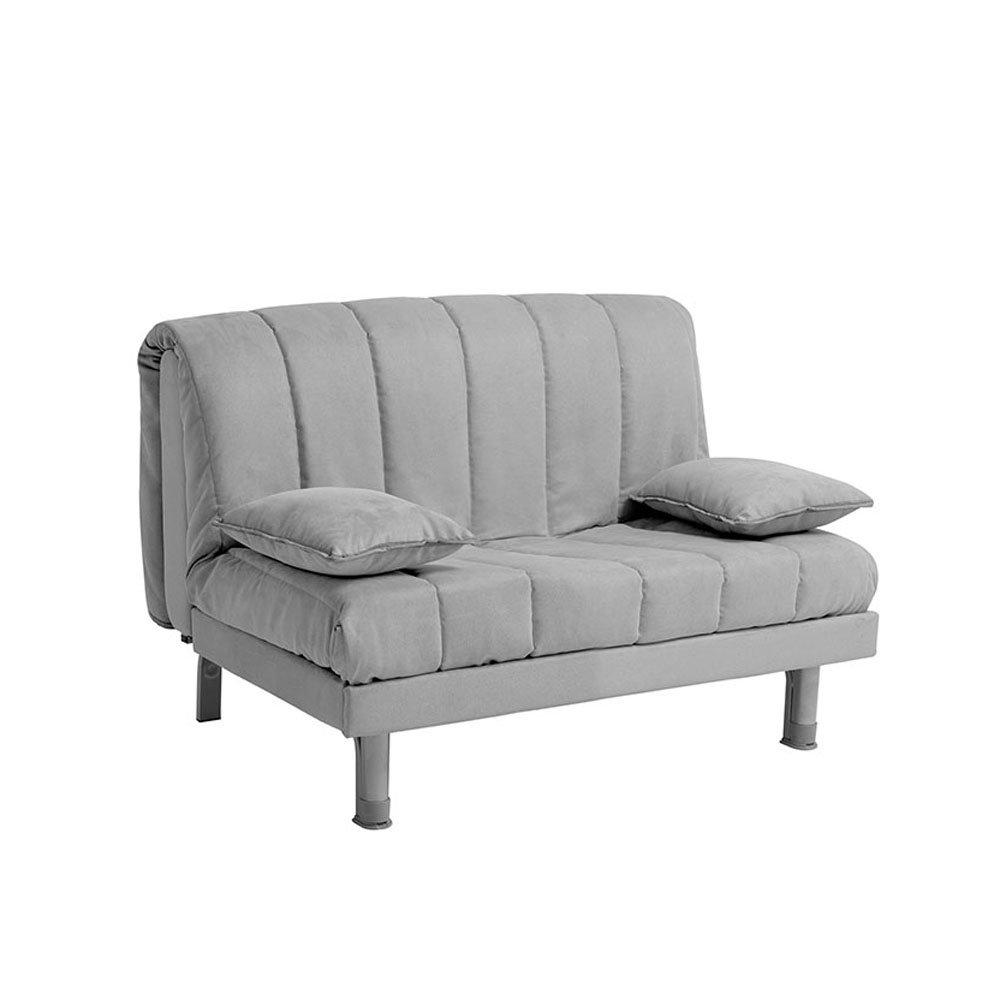 Facondini divani divano letto aron 120 antimacchia grigio - Divano letto 120 cm ...
