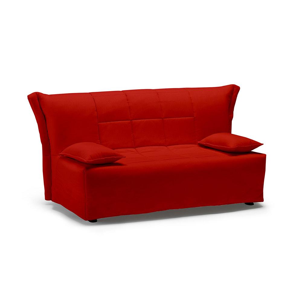 Divano matrimoniale trasformabile a slitta top6 rosso - Divano letto 160x190 ...