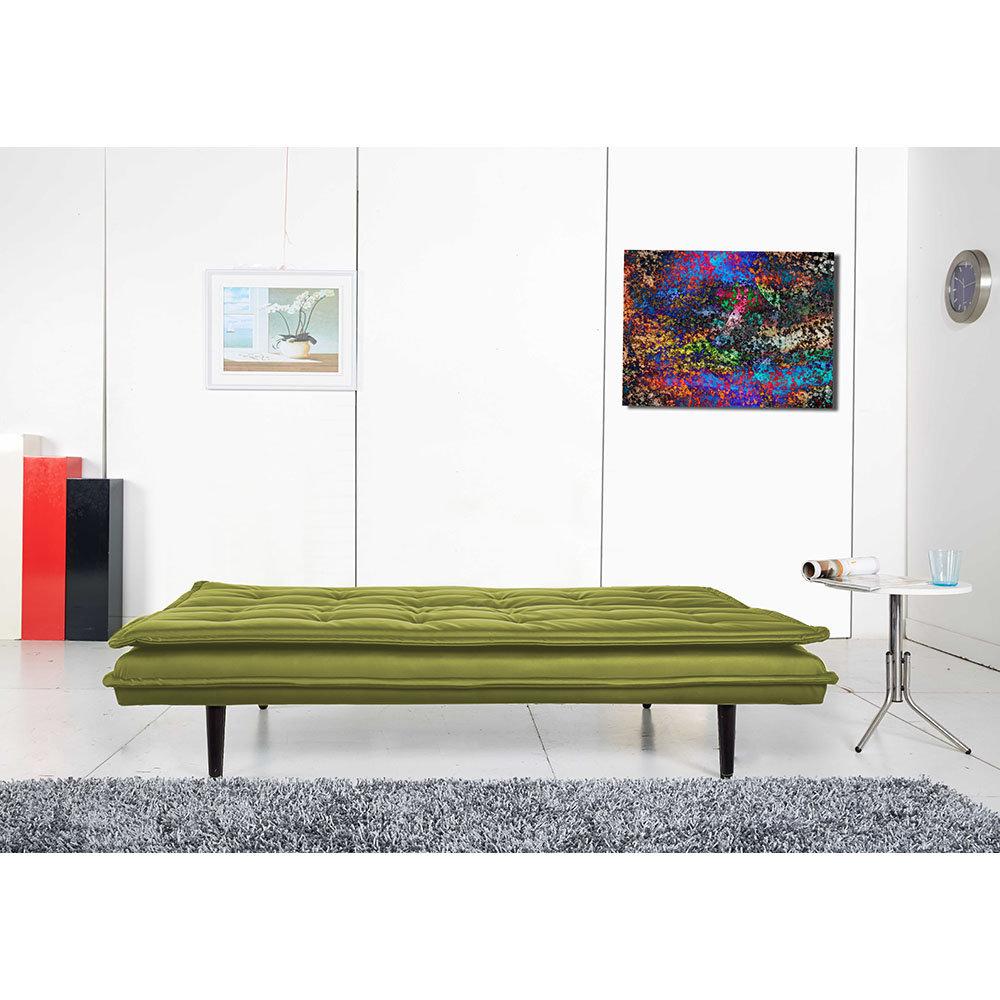 Divano letto bravoin tessuto verde facondini divani - Divani letto comodissimi ...