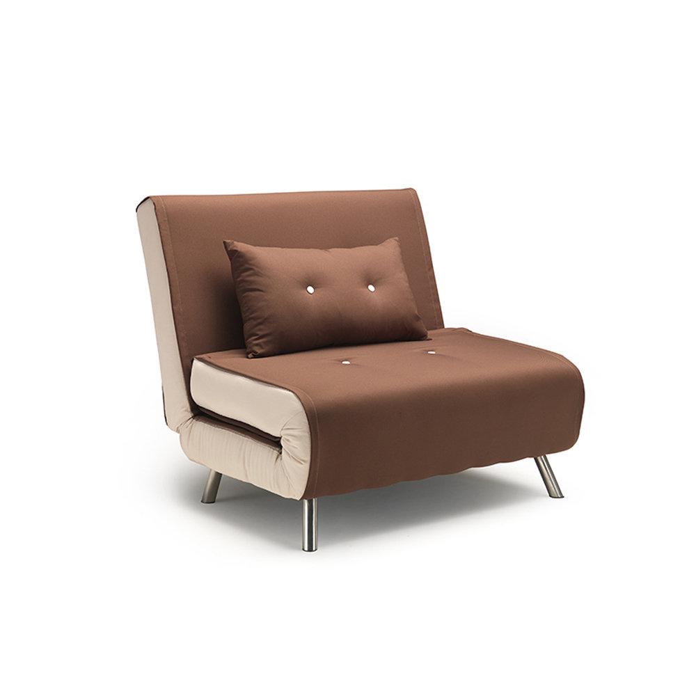 Poltrona letto trieste in tessuto caff ecru facondini divani acquista su ventis - Poltrona letto city ...