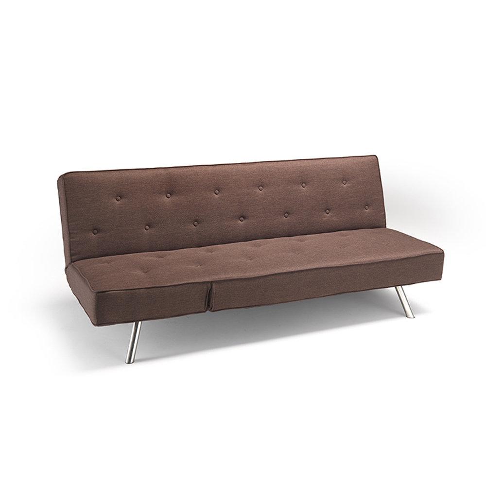 Divano letto amalfi in tessuto marrone facondini divani - Divani e divani divano letto prezzo ...