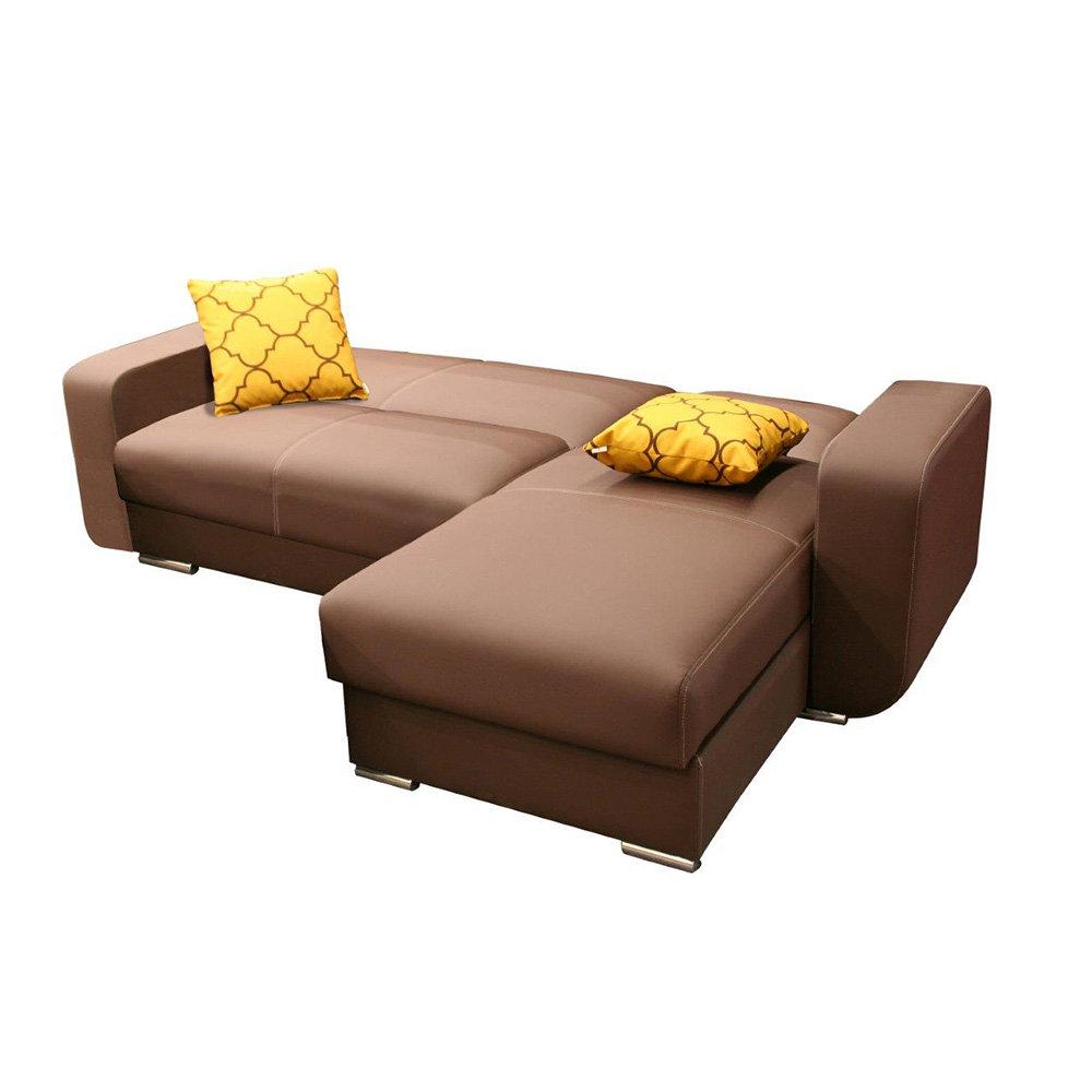 Divano letto lipari marrone facondini divani acquista for Divano letto divani e divani