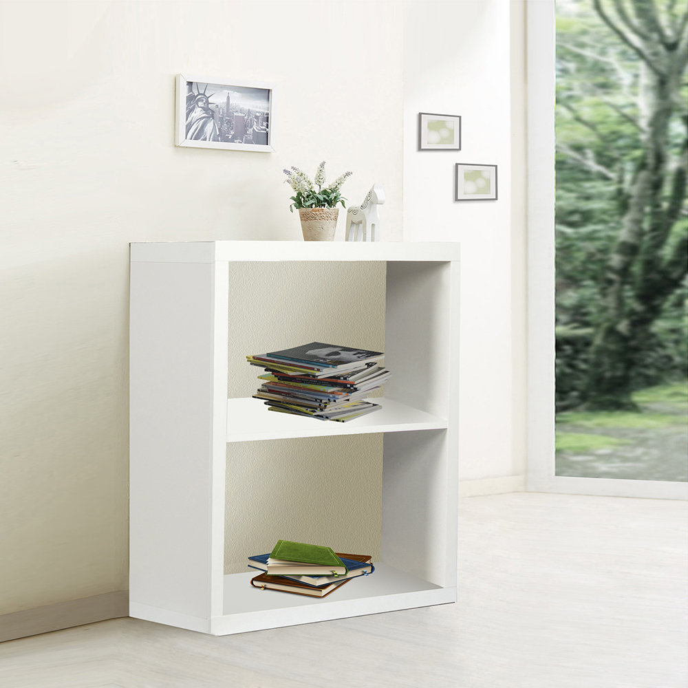 Libreria a 2 vani bianco evergreen house acquista su for Evergreen house