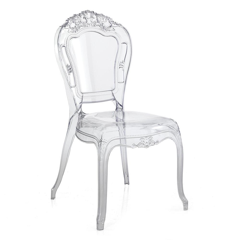 Set 2 sedie monaco in policarbonato trasparente le for Sedie in policarbonato trasparente