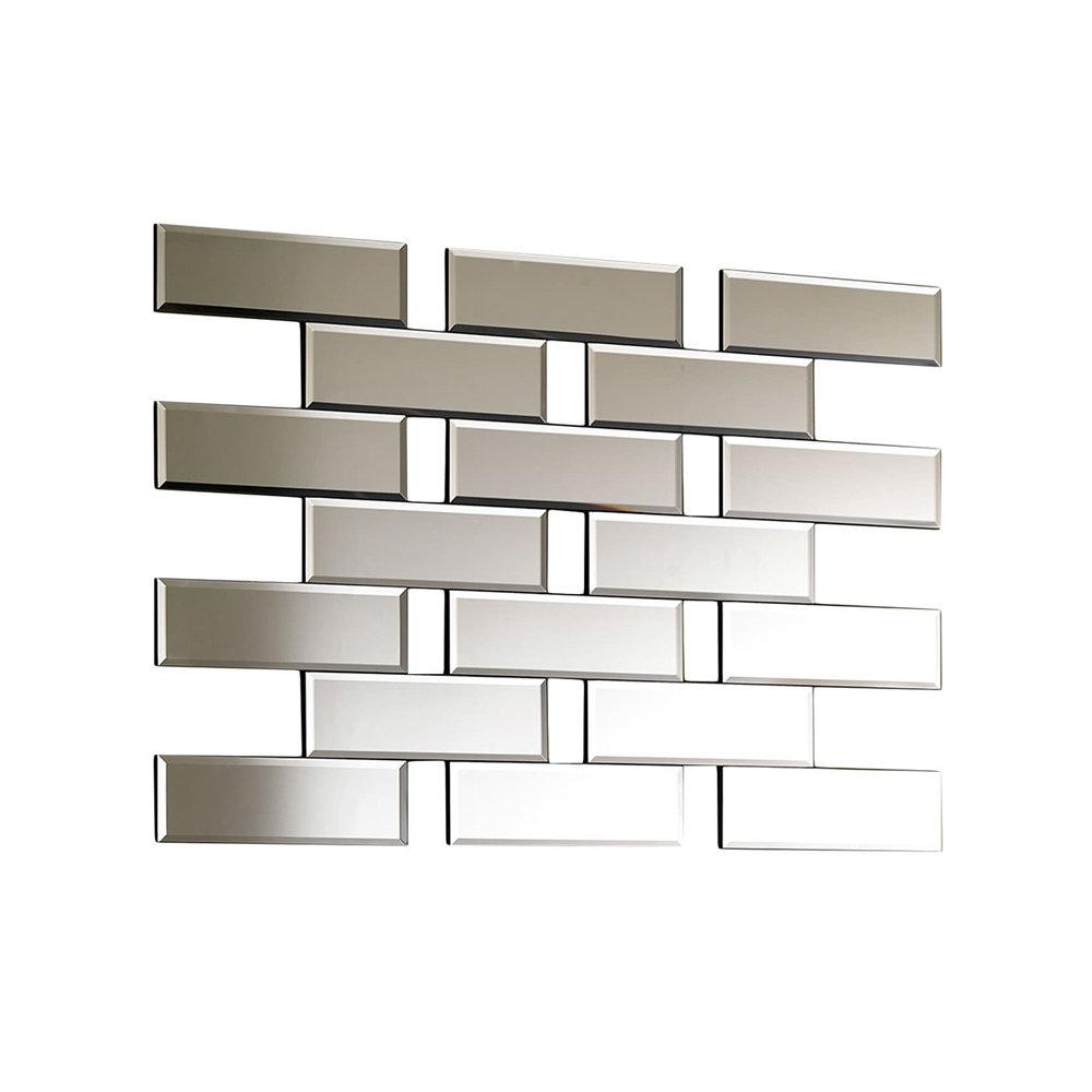 Specchio marree in vetro temperato stones arredamento for Arredamento in vetro