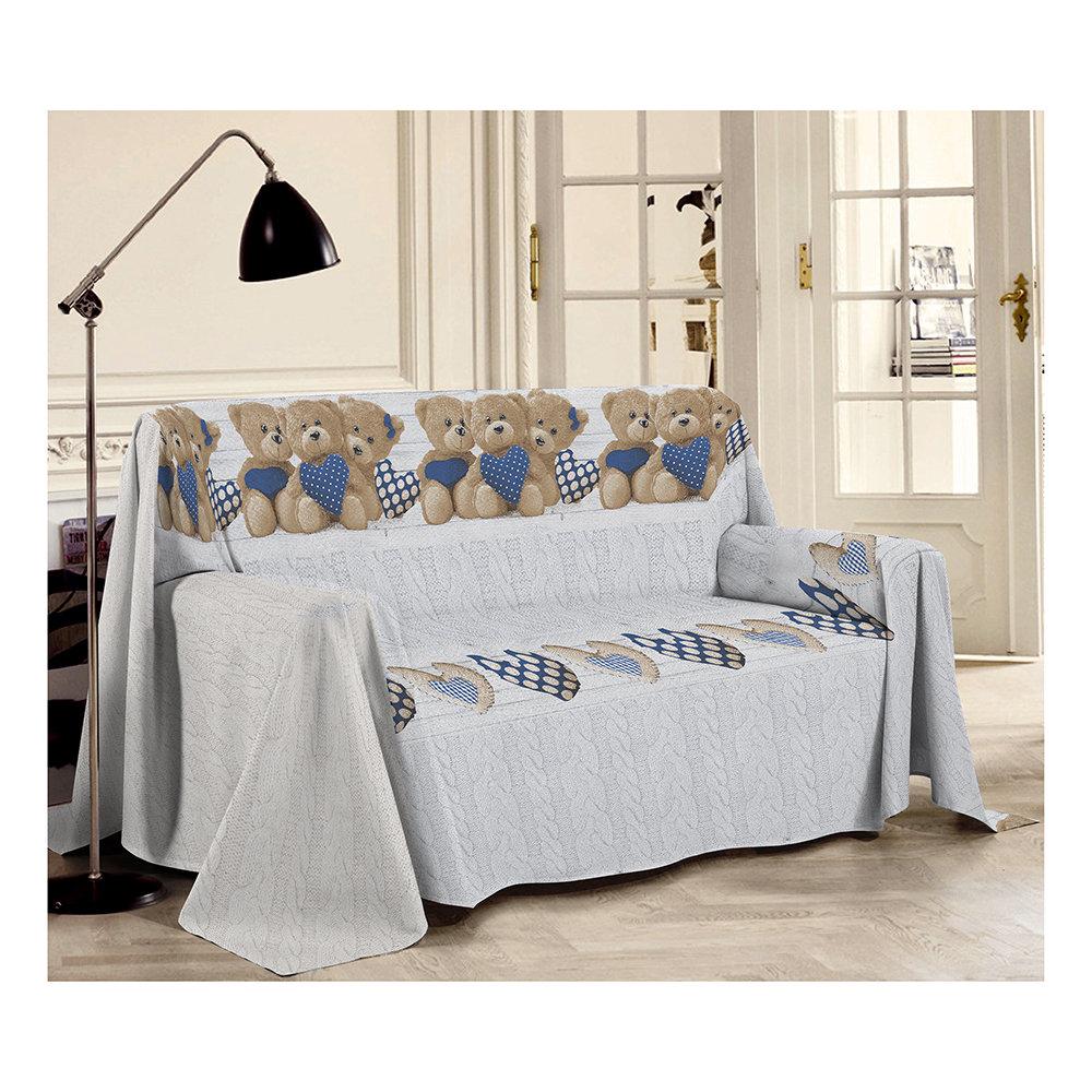 Telo arredo 1 piazza orsetti blu sof decorativi for Telo arredo