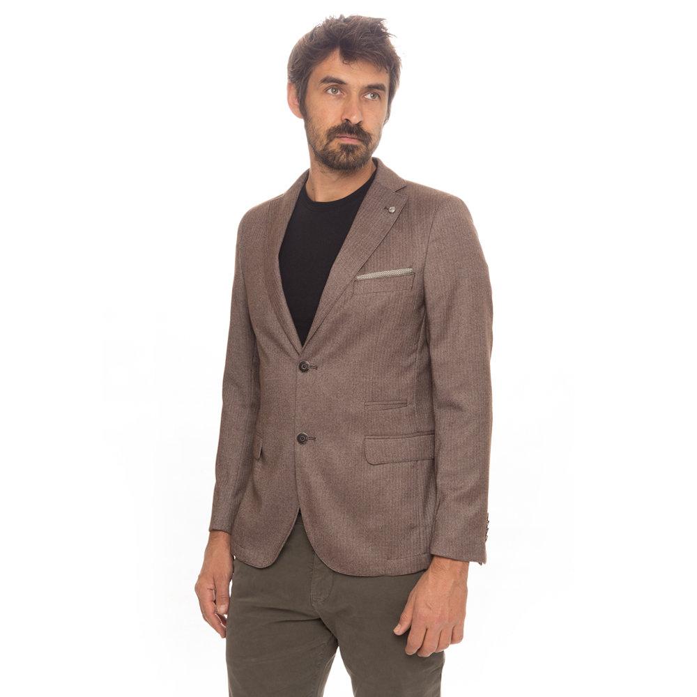 new product 4de49 14574 Giacca spigata marrone chiaro - Liu Jo Uomo A/I - Acquista su Ventis.